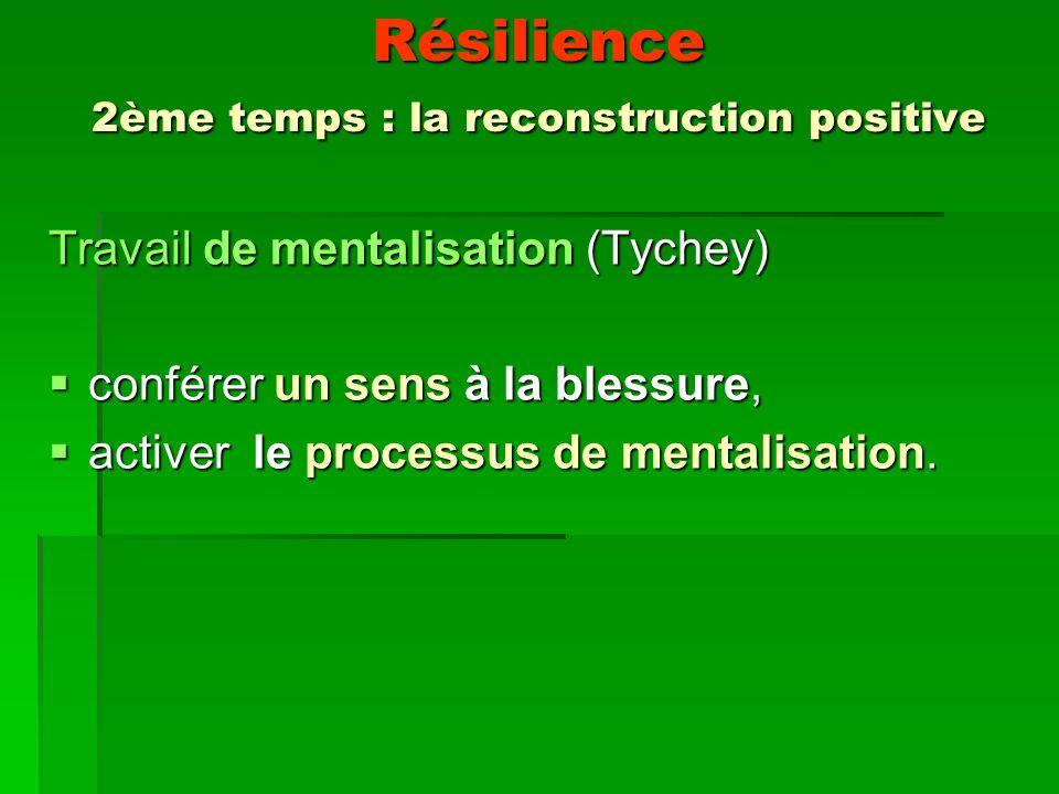 Résilience 2ème temps : la reconstruction positive