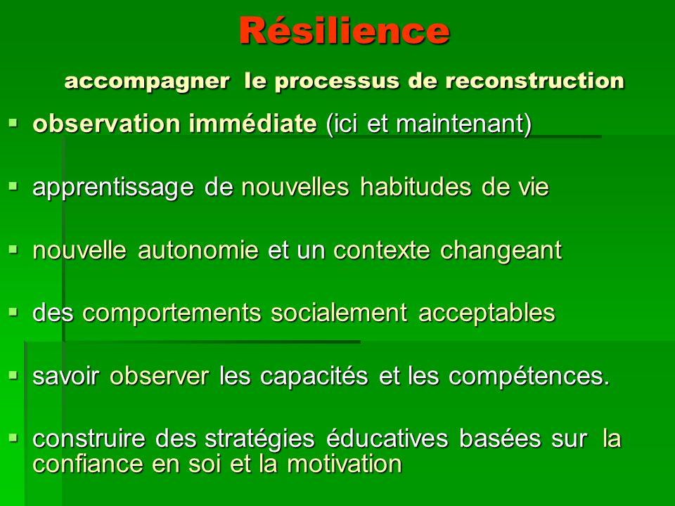 Résilience accompagner le processus de reconstruction