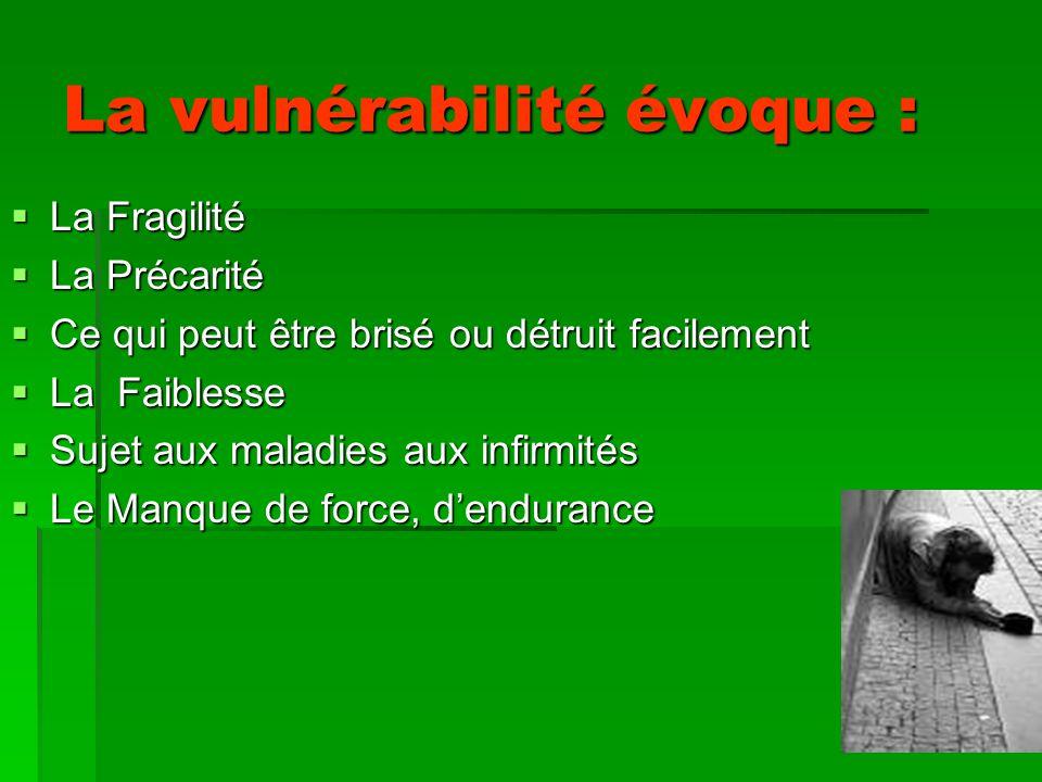La vulnérabilité évoque :