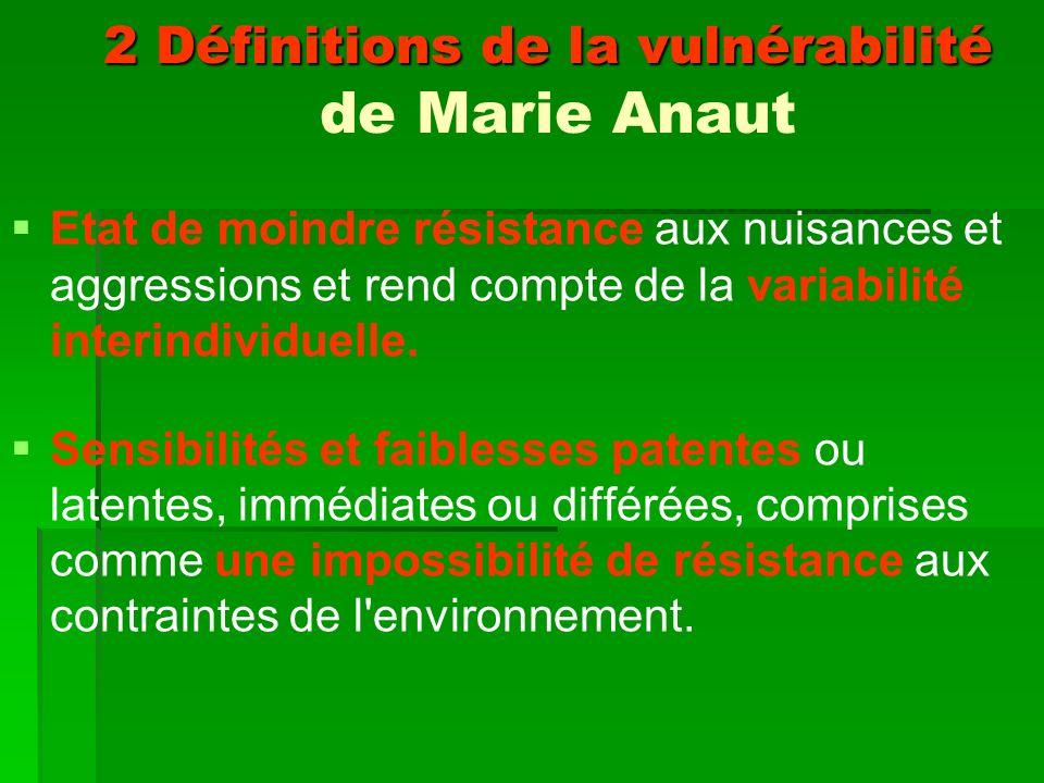 2 Définitions de la vulnérabilité de Marie Anaut