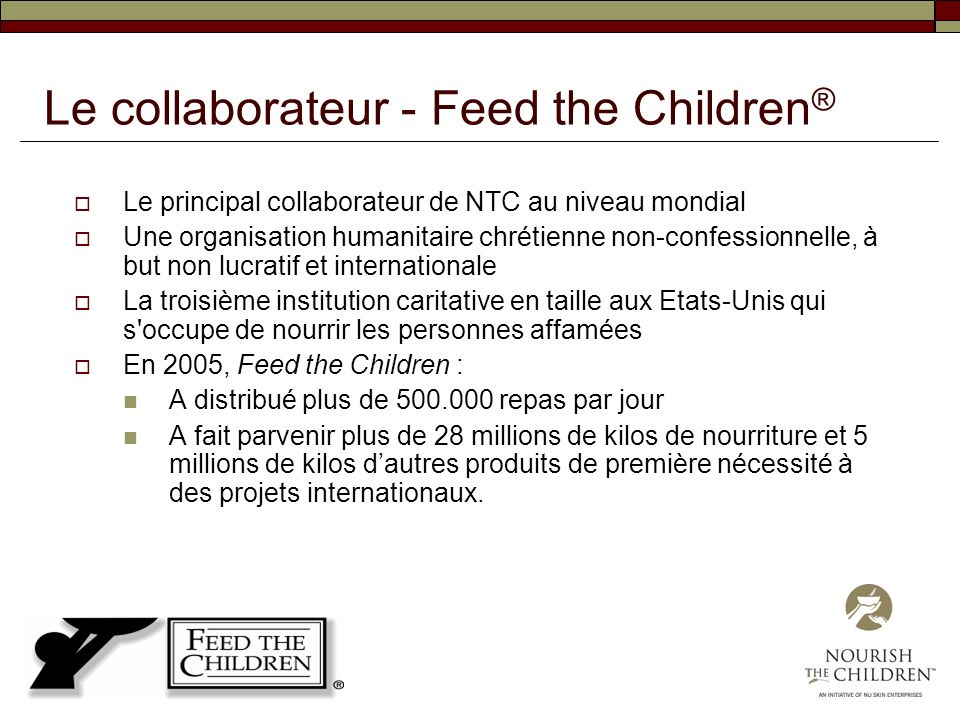 Le collaborateur - Feed the Children®