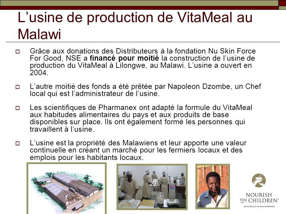 L'usine de production de VitaMeal au Malawi