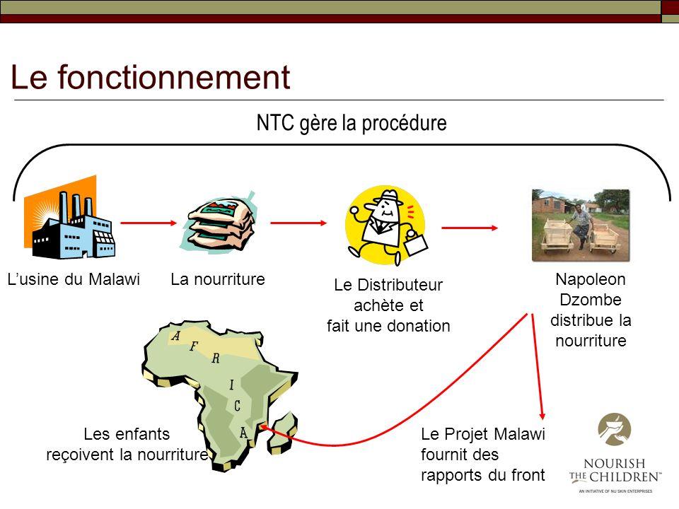 Le fonctionnement NTC gère la procédure L'usine du Malawi