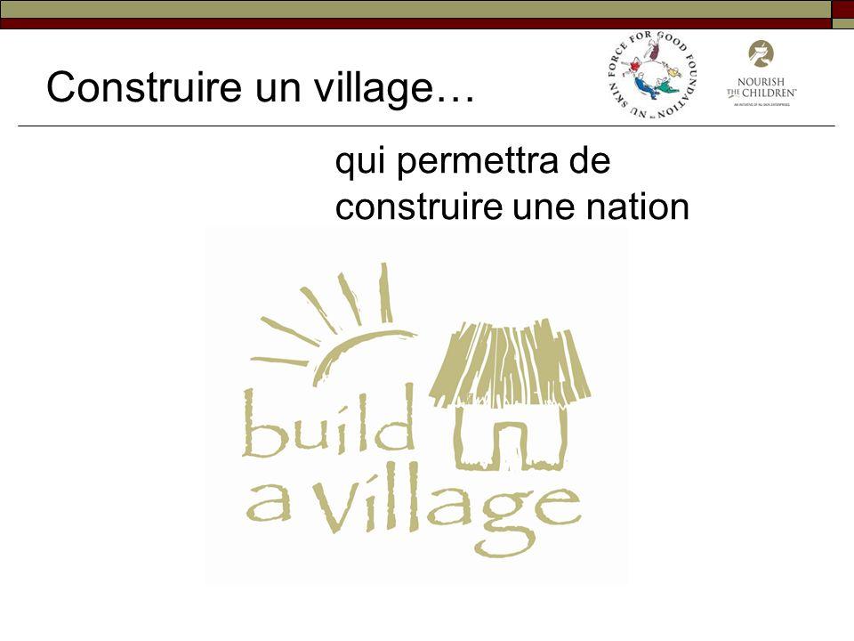 Construire un village…