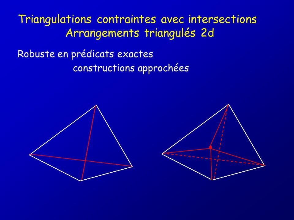 Triangulations contraintes avec intersections