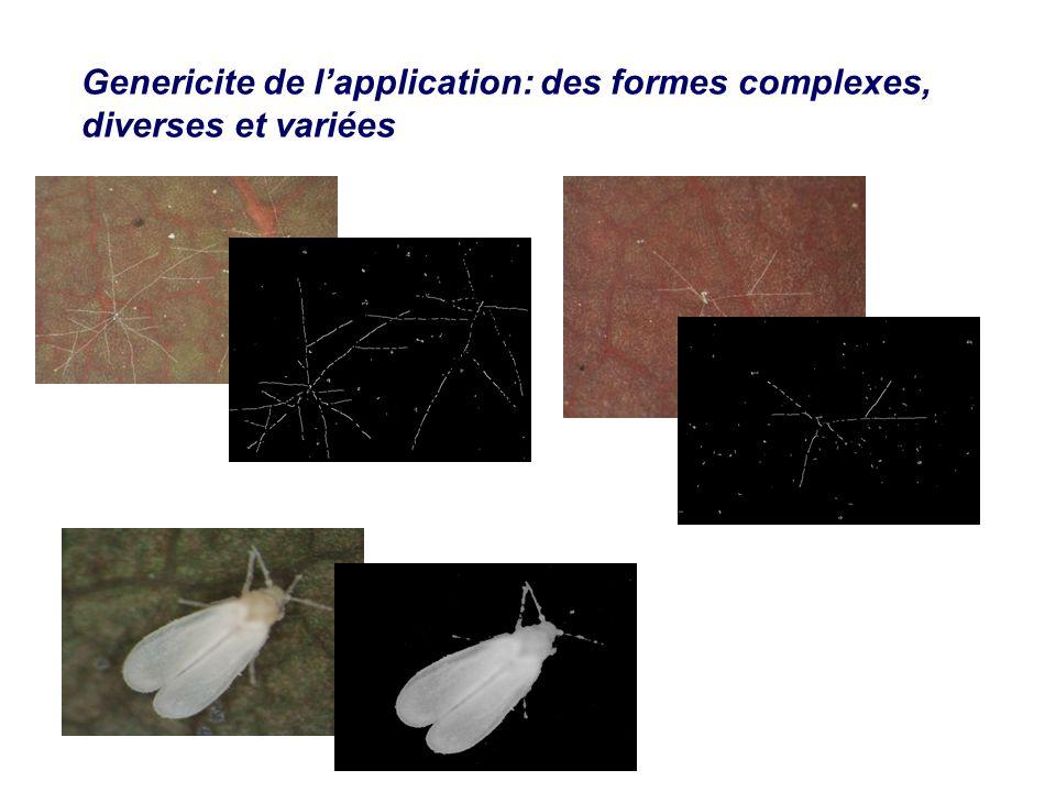Genericite de l'application: des formes complexes, diverses et variées