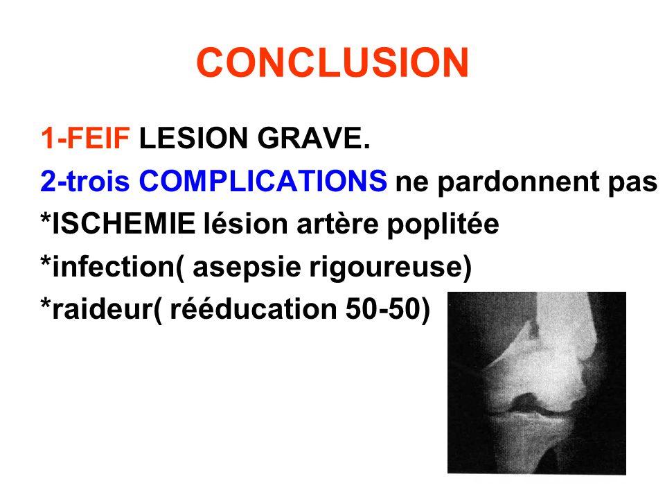 CONCLUSION 1-FEIF LESION GRAVE.