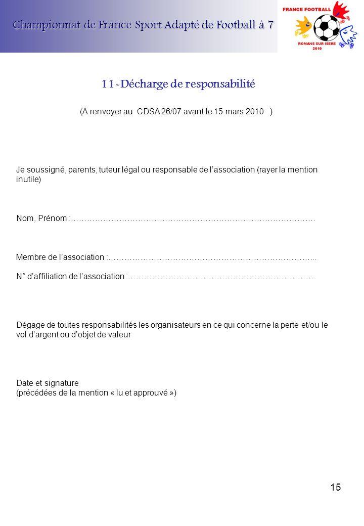 11-Décharge de responsabilité