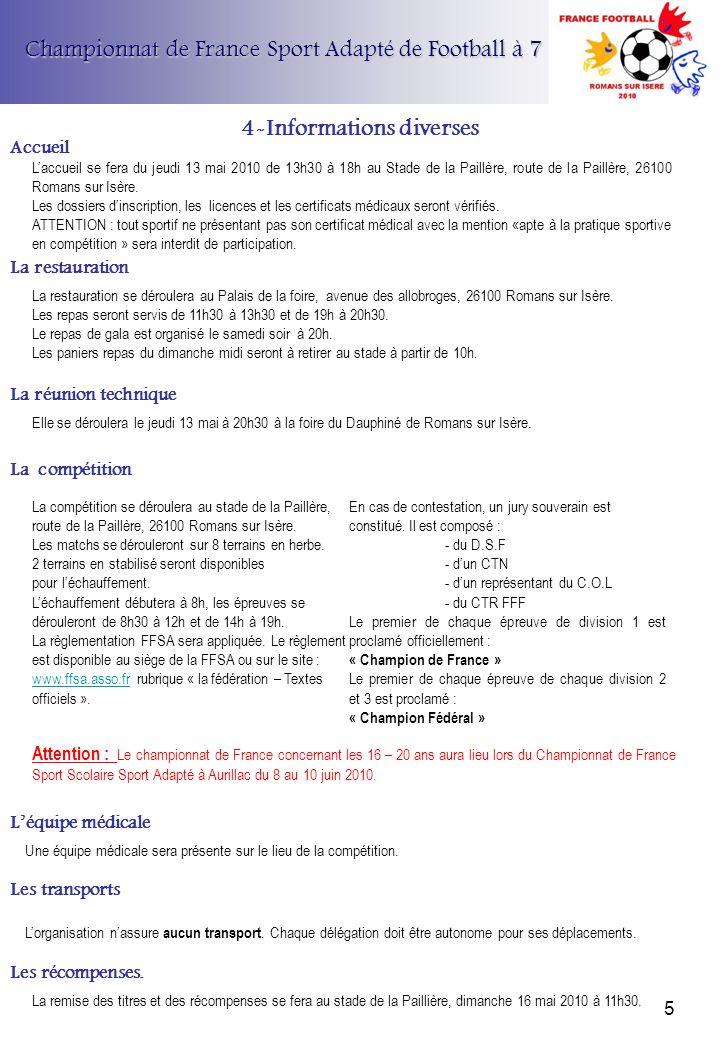 4-Informations diverses