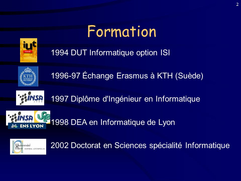 Formation 1994 DUT Informatique option ISI