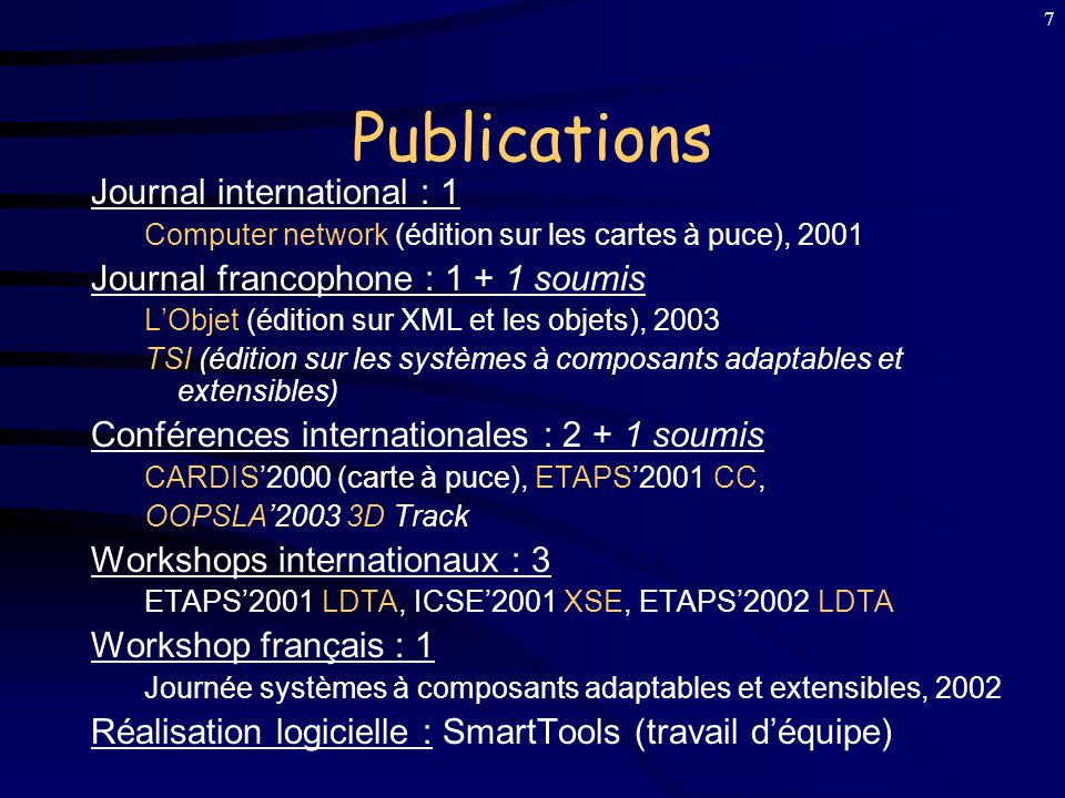 Publications Journal international : 1