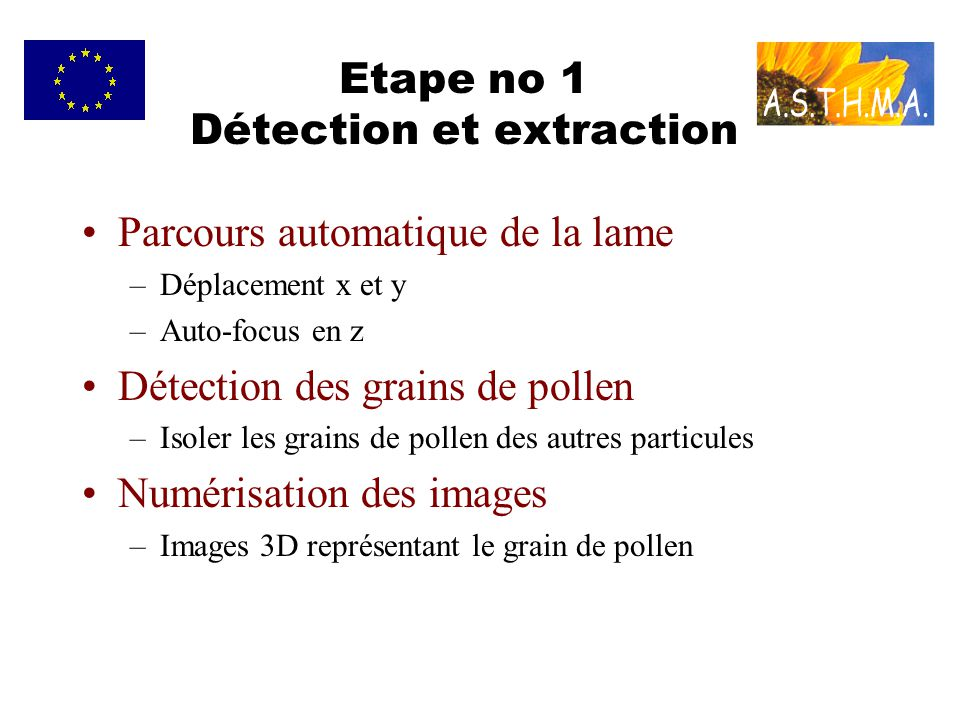 Etape no 1 Détection et extraction