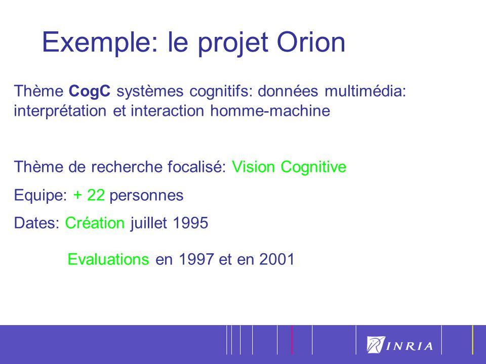 Exemple: le projet Orion