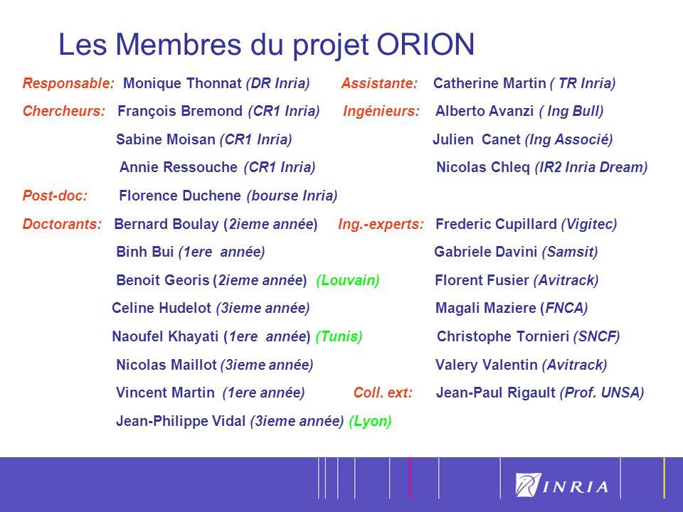 Les Membres du projet ORION