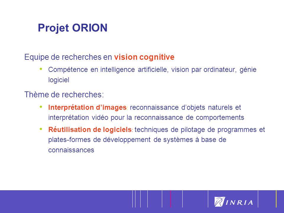 Projet ORION Equipe de recherches en vision cognitive