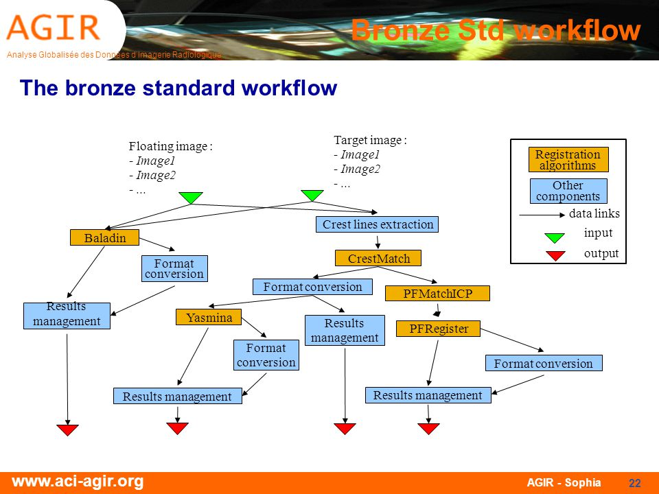 Bronze Std workflow The bronze standard workflow CrestMatch PFMatchICP