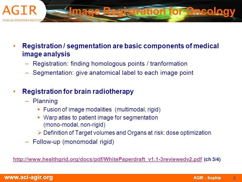 Image Registration for Oncology