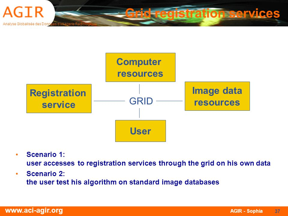 Grid registration services