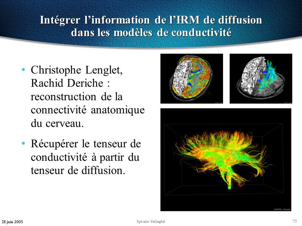 Intégrer l'information de l'IRM de diffusion dans les modèles de conductivité
