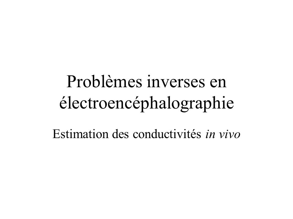 Problèmes inverses en électroencéphalographie