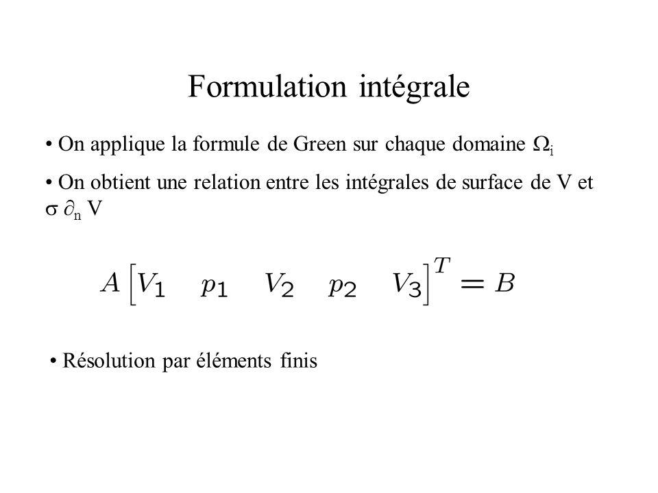 Formulation intégrale