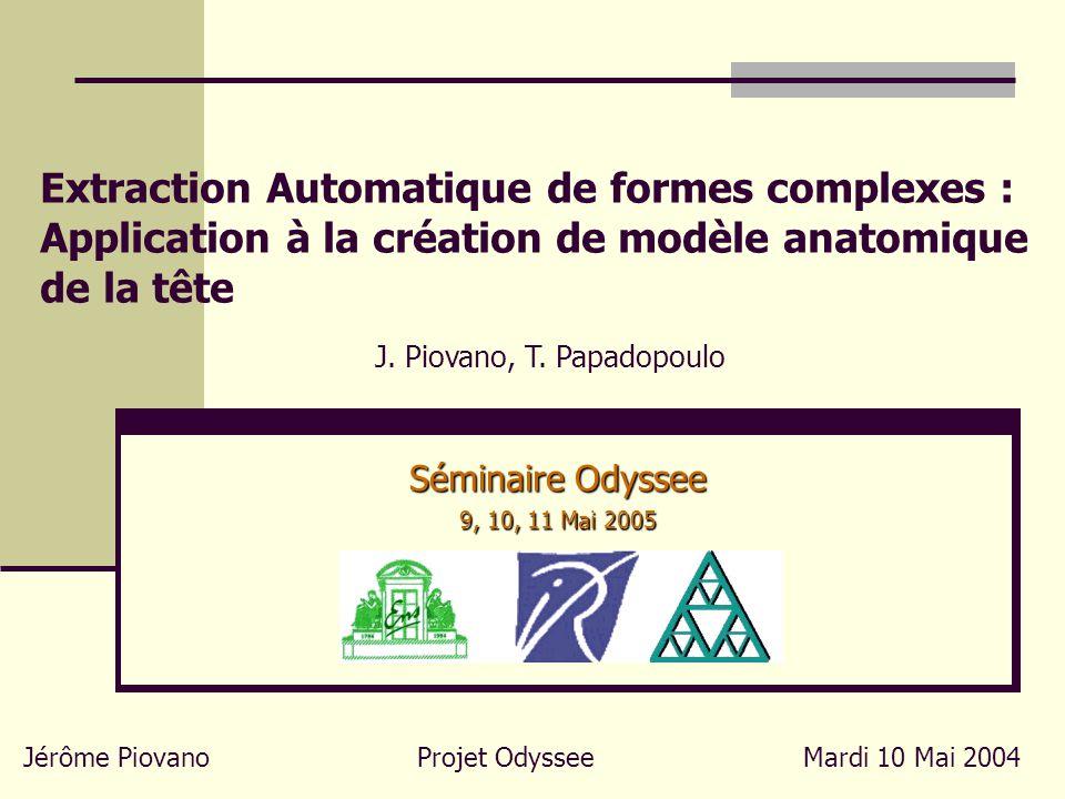 Extraction Automatique de formes complexes : Application à la création de modèle anatomique de la tête