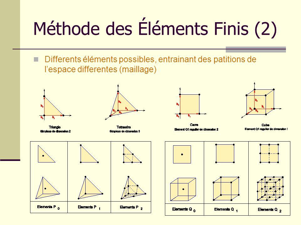 Méthode des Éléments Finis (2)