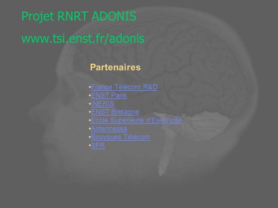 Projet RNRT ADONIS www.tsi.enst.fr/adonis Partenaires