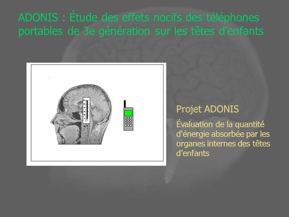 ADONIS : Étude des effets nocifs des téléphones portables de 3e génération sur les têtes d'enfants