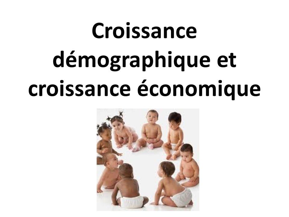 Croissance démographique et croissance économique