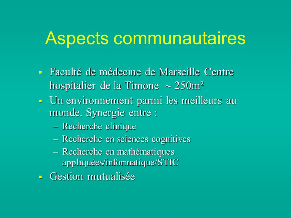 Aspects communautaires
