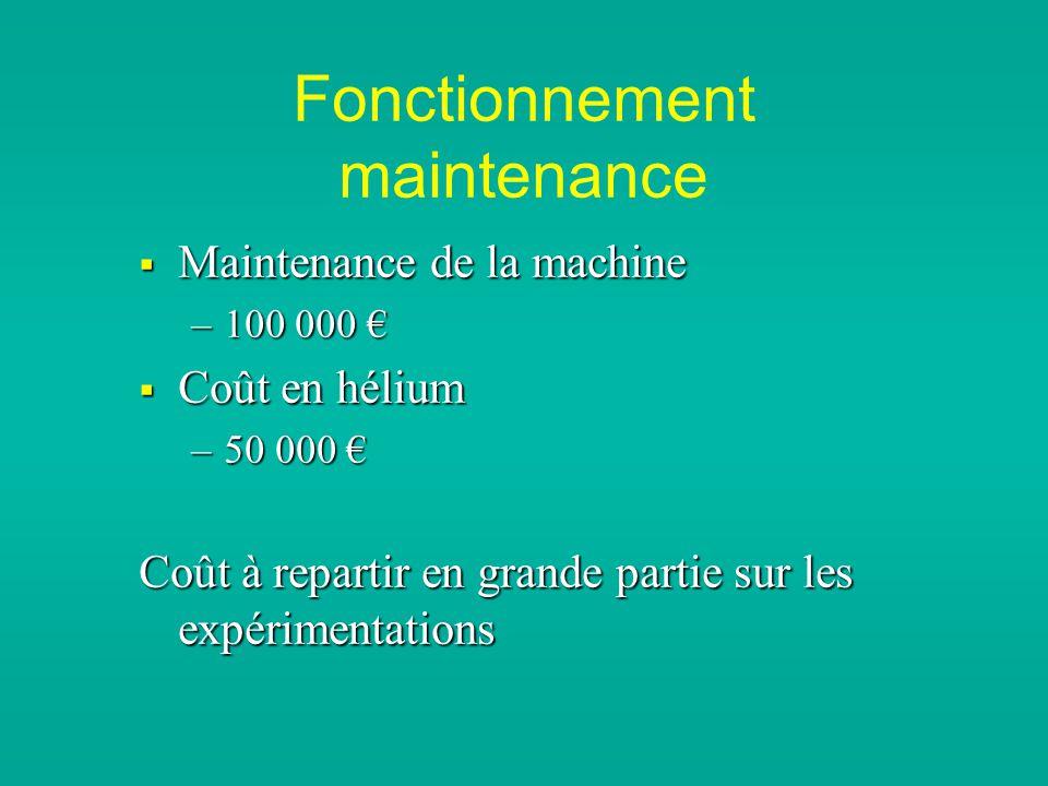 Fonctionnement maintenance