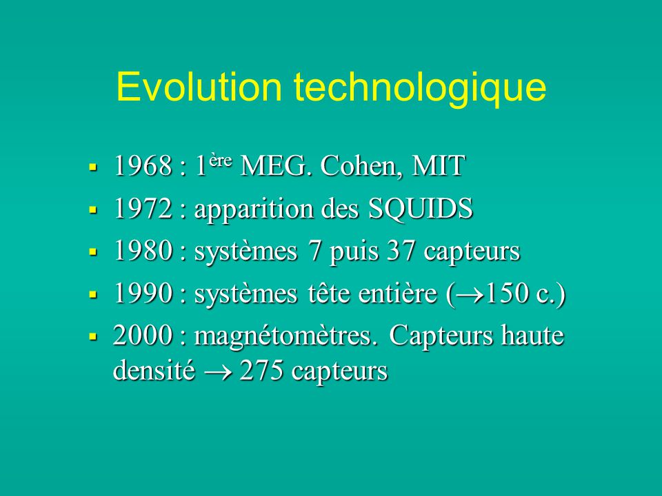 Evolution technologique