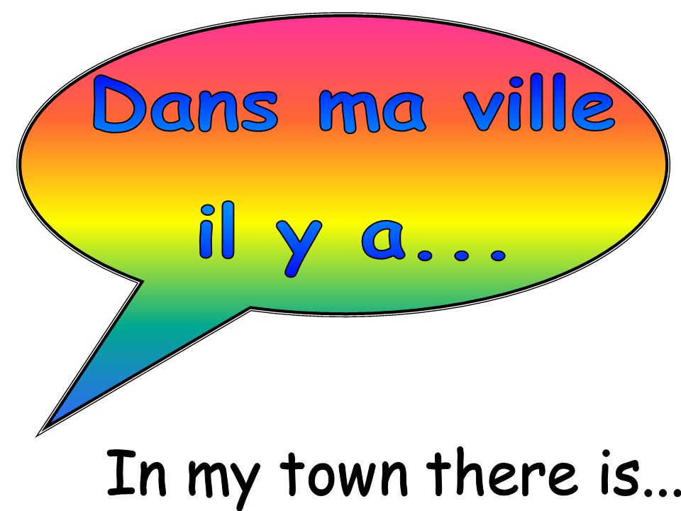 Dans ma ville il y a... In my town there is...