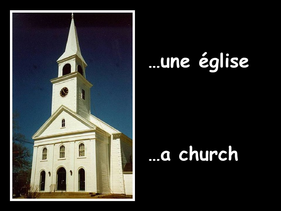 …une église …a church