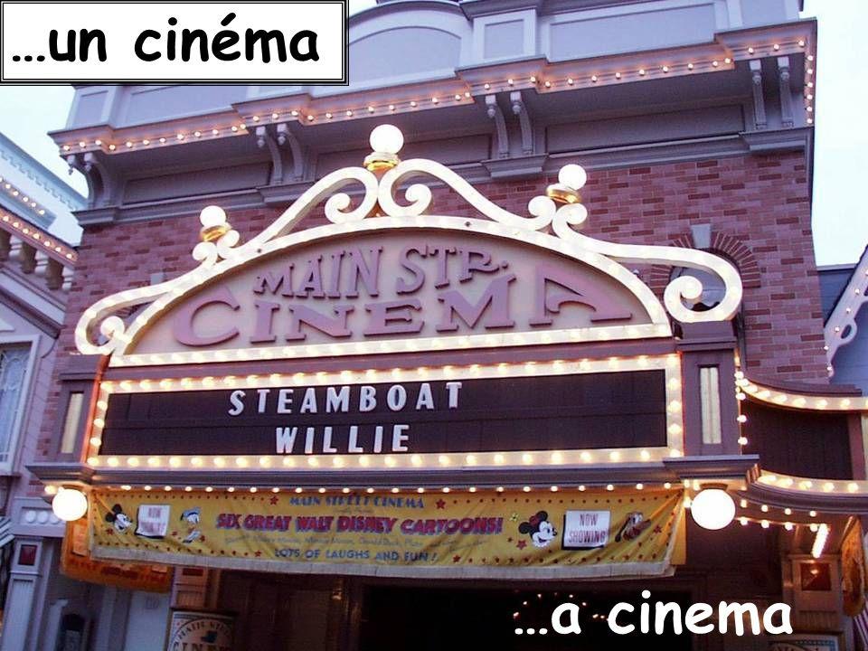 …un cinéma …a cinema