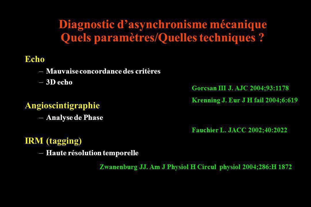 Diagnostic d'asynchronisme mécanique Quels paramètres/Quelles techniques