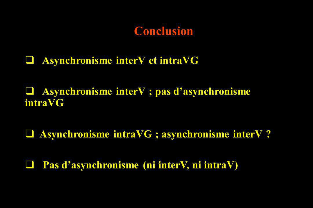 Conclusion Asynchronisme interV et intraVG