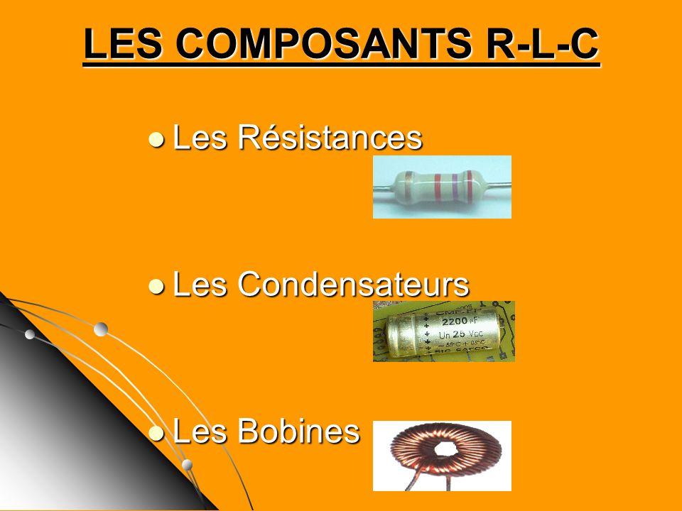 LES COMPOSANTS R-L-C Les Résistances Les Condensateurs Les Bobines