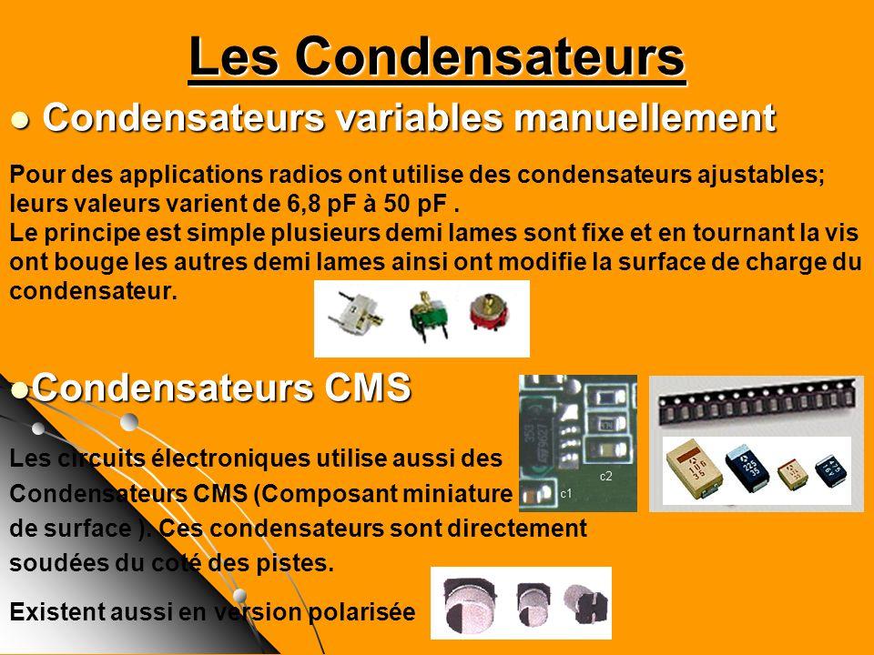 Les Condensateurs Condensateurs variables manuellement