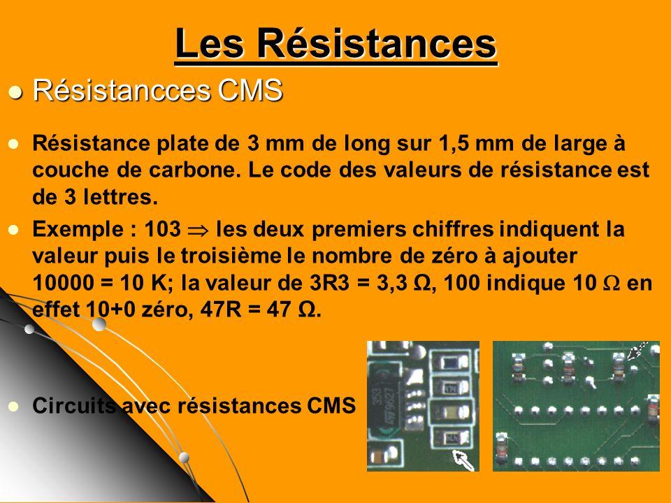 Les Résistances Résistancces CMS
