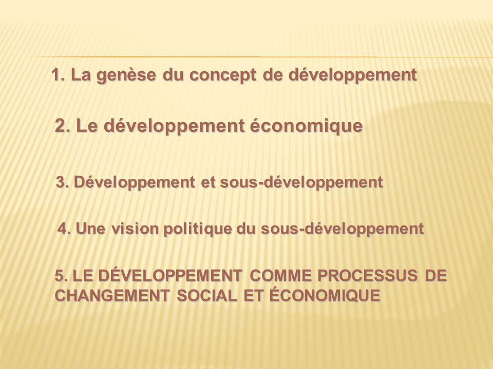 5. Le développement comme processus de changement social et économique