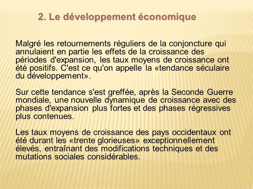 2. Le développement économique