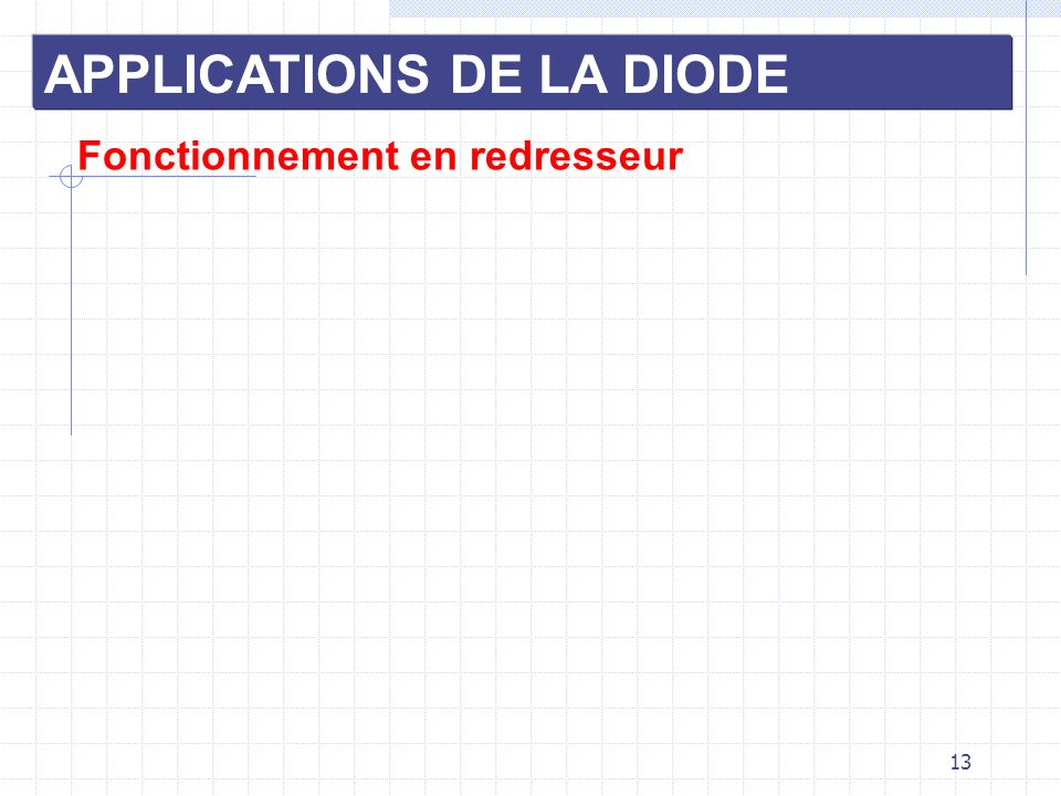 APPLICATIONS DE LA DIODE