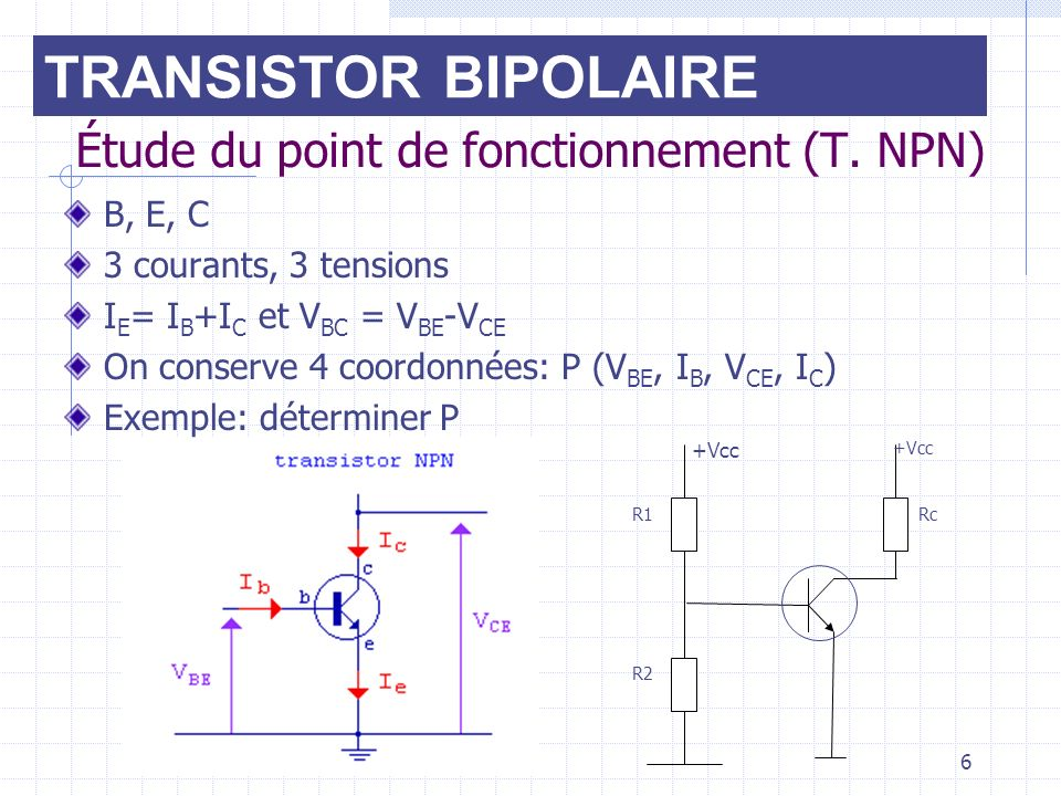 Transistor bipolaire ppt video online t l charger for Transistor fonctionnement