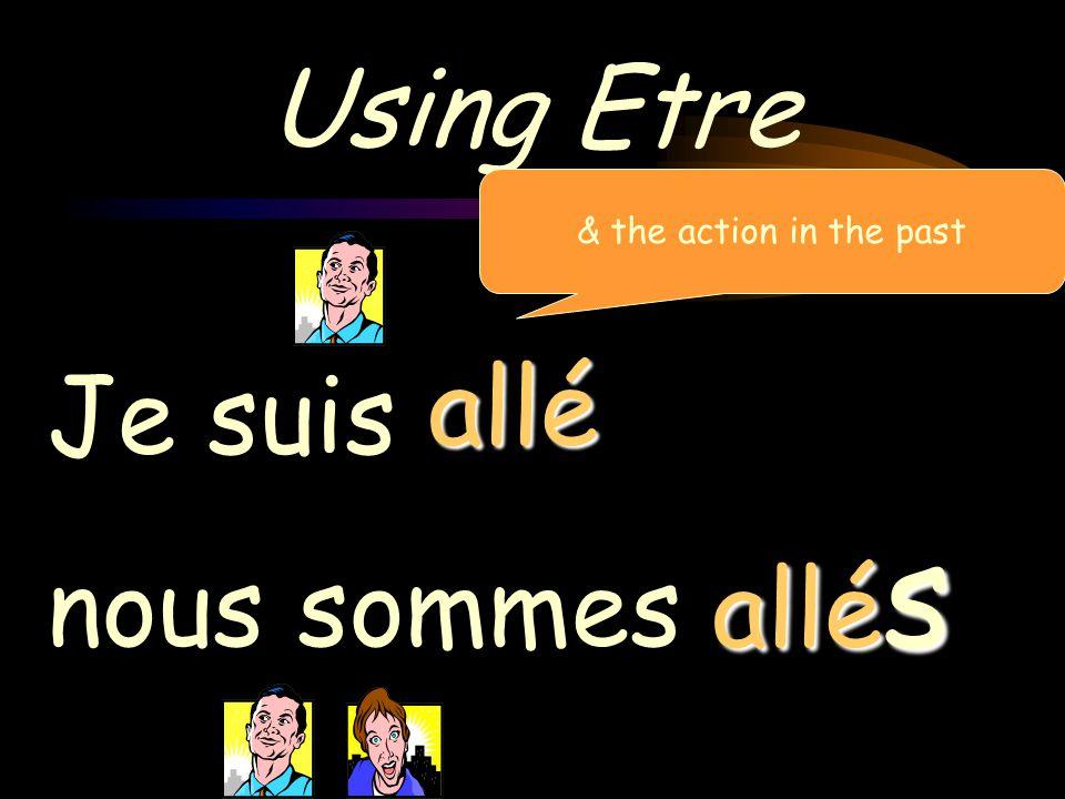 Using Etre & the action in the past allé Je suis nous sommes allés