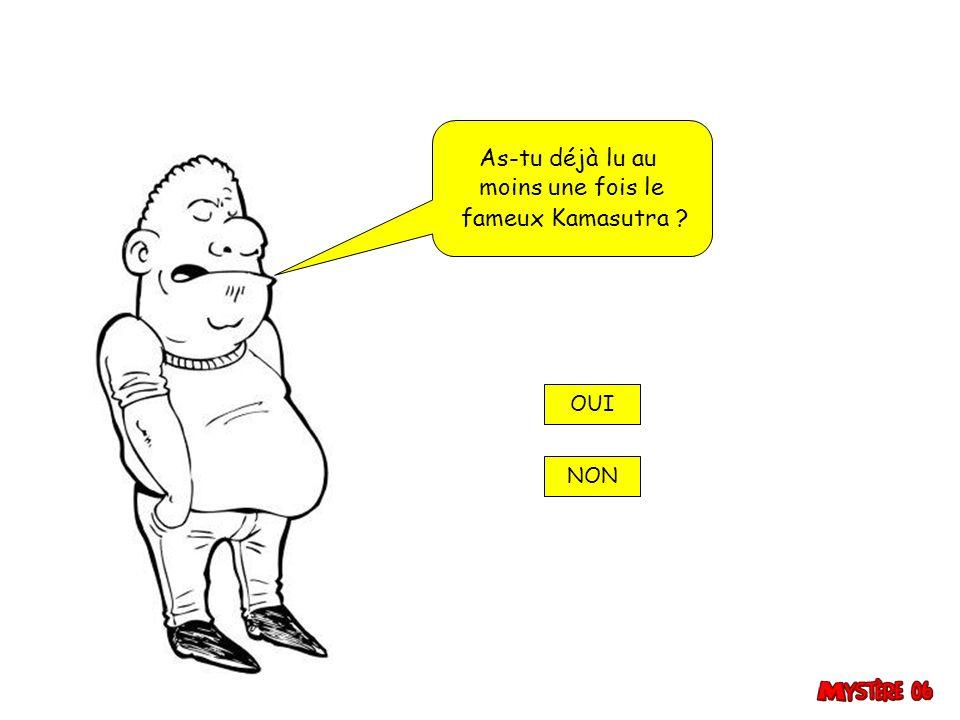 As-tu déjà lu au moins une fois le fameux Kamasutra OUI NON