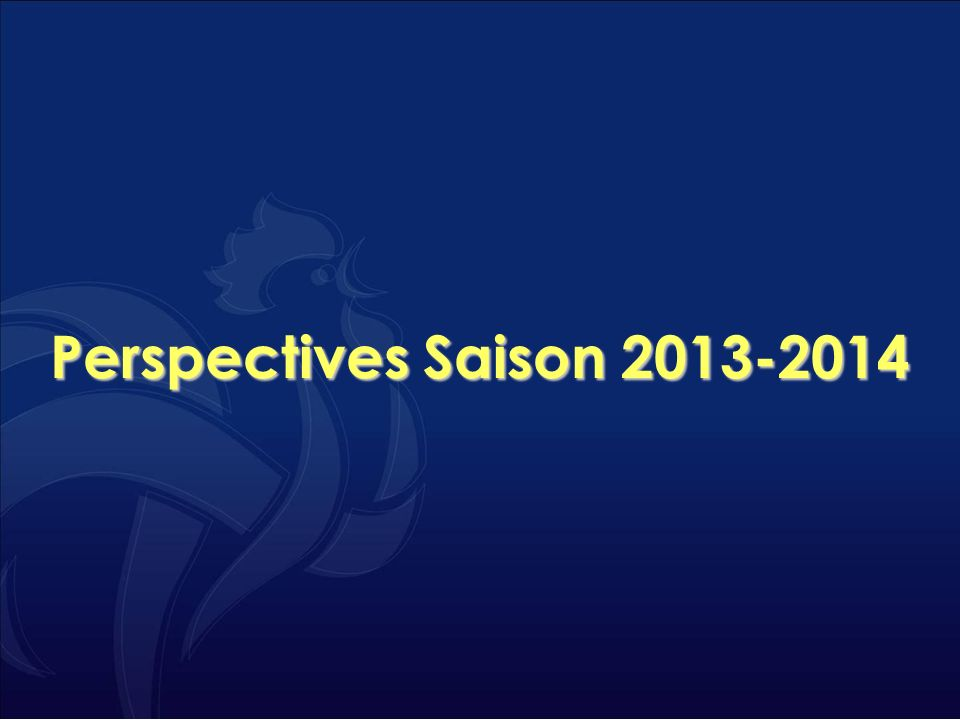 Perspectives Saison 2013-2014