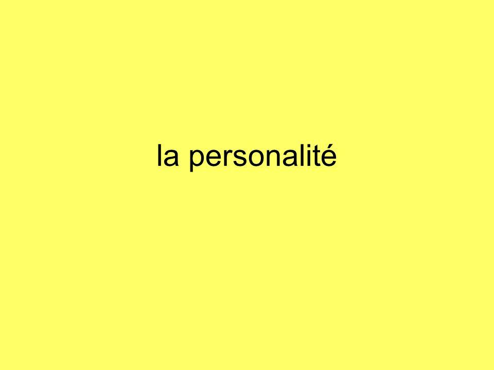 la personalité