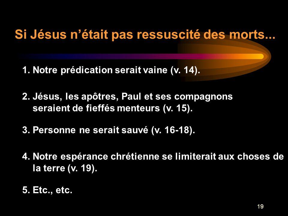 Si Jésus n'était pas ressuscité des morts...
